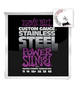 Ernie Ball 2245 Stainless Steel Power Slinky 11/48