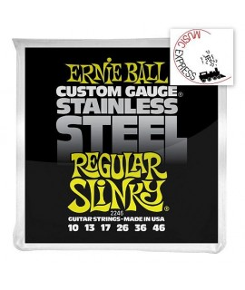 Ernie Ball 2246 Stainless Steel Regular Slinky 10/46