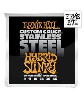 Ernie Ball 2247 Stainless Steel Hybrid Slinky 09/46