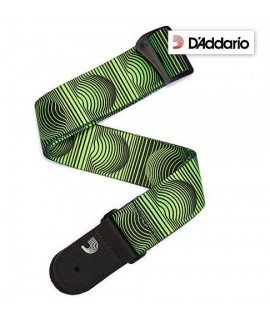 D'Addario Optical Art Green - Tracolla per Chitarra