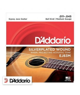 D'Addario EJ83M Gypsy Jazz Medium Gauge 11/45