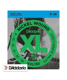 D'Addario EXL130 Extra-Super Light 08/38
