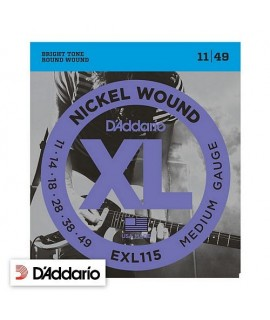 D'Addario EXL115 Medium Gauge 11/49