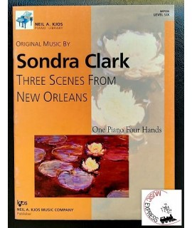 Clark - Three Scenes From New Orleans: One Piano Four Hands, Level Six