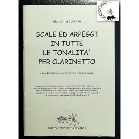 Marcolina - Scale e Arpeggi in Tutte le Tonalità per Clarinetto