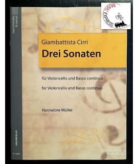 Cirri - Drei Sonaten für Violoncello und Basso Continuo
