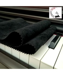 Panno Copritastiera per Pianoforte - Nero
