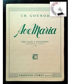 Gounod - Ave Maria per Canto e Pianoforte in MI - Ed. Curci  5950 - Charles Gounod