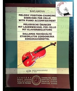 Baklanova - Melodic Position-Changing Exercises for Cello with Piano Accompaniment