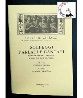 Letterio Ciriaco - Solfeggi Parlati e Cantati III corso