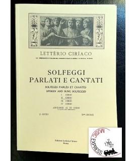 Letterio Ciriaco - Solfeggi Parlati e Cantati II° corso