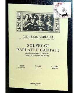 Letterio Ciriaco - Solfeggi Parlati e Cantati I° corso Parte Seconda