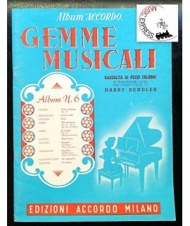 Vari - Gemme Musicali Album N. 6 - Raccolta di Pezzi Celebri per Pianoforte