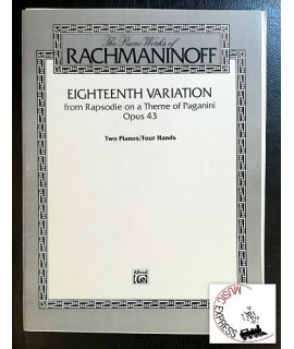 Rachmaninoff - Eighteenth Variation from Rhapsodie on a theme of Paganini Opus 43