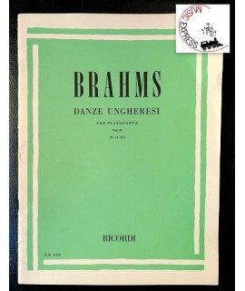 Brahms - Danze Ungheresi per Pianoforte Vol. II - Ricordi E.R. 1523