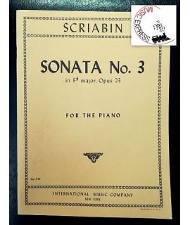Scriabin - Sonata No. 3 in Fa diesis Maggiore, Opus 23 per Pianoforte