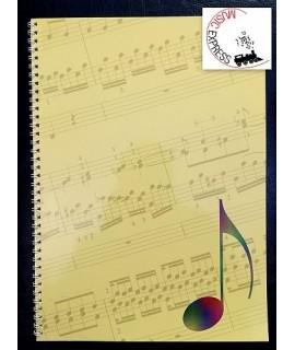 Quaderno di Musica Serie Concerto - 12 Pentagrammi, 32 Pagine Rilegate