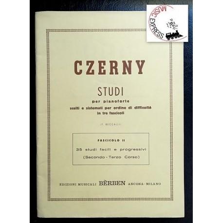 Czerny - Studi per Pianoforte Fascicolo II - 35 Studi Facili e Progressivi (Secondo e Terzo Corso)