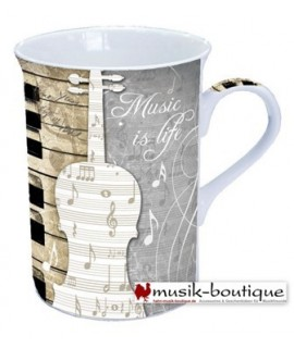 Tazza in Ceramica Music Is Life - Musikboutique