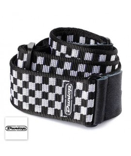 Dunlop Classic Checker D38-31BK - Tracolla per Chitarra