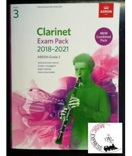 Clarinet Exam Pack 2018-2021 ABRSM Grade 3