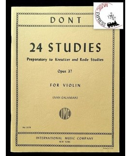Dont - 24 Studies Preparatory to Kreuzer and Rode Studies Opus 37 for Violin - IMC No. 2378