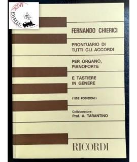 Chierici - Prontuario di Tutti gli Accordi per Organo, Pianoforte e Tastiere in Genere