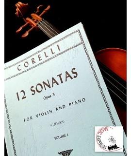 Corelli - 12 Sonatas Opus 5 for Violin and Piano Volume 1