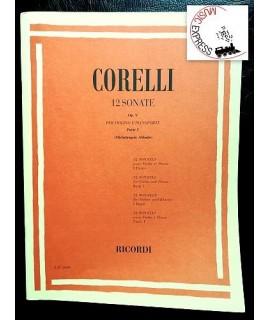 Corelli - 12 Sonate Op. 5 per Violino e Pianoforte Parte I - Ricordi E.R. 2660 - Arcangelo Corelli