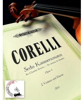 Corelli - Sechs Kammersonaten Opus 4 für 2 Violinen und Klavier