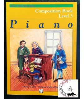 Alfred's Basic Piano Library - Piano Composition Book Level 3