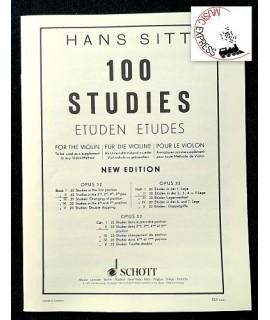 Sitt - 100 Studies for the Violin Book II