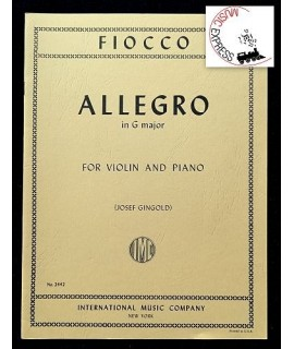 Fiocco - Allegro in G Major for Violin and Piano