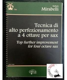 Mirabelli - Tecnica di Alto Perfezionamento a 4 Ottave per Sax