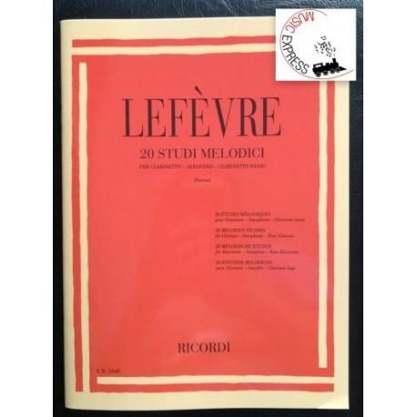 Lefèvre - 20 Studi Melodici per Clarinetto, Saxofono, Clarinetto Basso