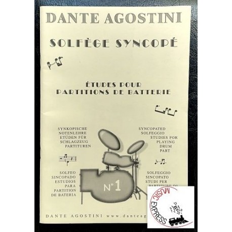 Agostini - Solfeggio Sincopato n. 1 - Studi per Partiture di Batteria