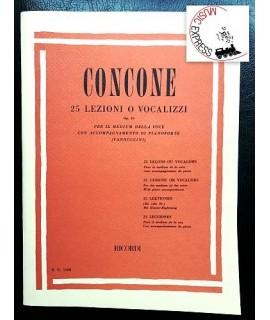 Concone - 25 Lezioni o Vocalizzi Op. 10 per il Medium della Voce