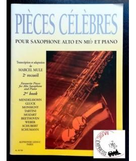 Mule - Pièces Célebrès pour Sxophone Alto en MiB et Piano 2° Recueil