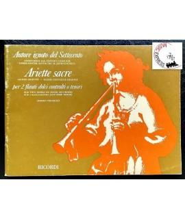 Autore Ignoto del Settecento - Ariette Sacre Per 2 Flauti Dolci Contralti o Tenori