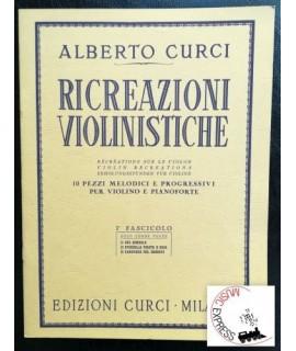 Curci - Ricreazioni Violinistiche I° Fascicolo