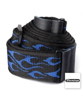 Dunlop Classic Strap Flambe Blue D38-11BL