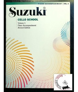 Suzuki Cello School Volume 5 - Piano Accompaniment - Revised Edition
