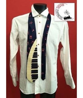 Cravatta Musicale con Tastiera e Note