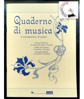 Quaderno di Musica - 12 Pentagrammi, 32 Pagine
