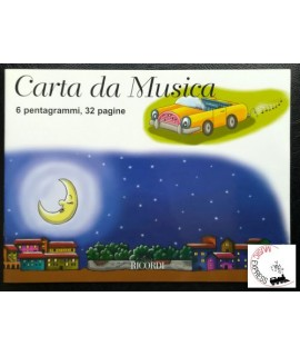 Quaderno di Musica - 6 Pentagrammi, 32 Pagine
