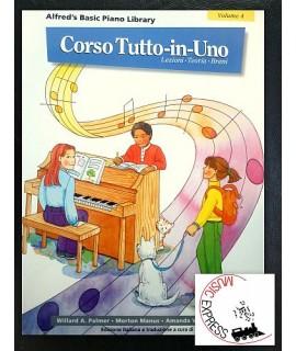 Alfred's Basic Piano Library - Corso Tutto-In-Uno Volume 4