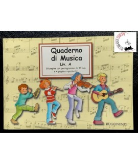 Quaderno di Musica Livello A - 2 Pentagrammi Grandi, 28 Pagine