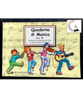 Quaderno di Musica Livello B - 4 Pentagrammi, 28 Pagine