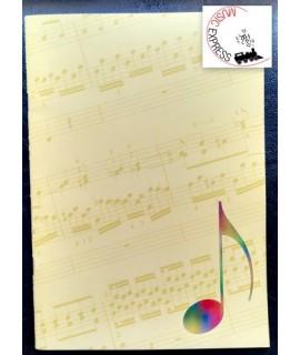 Quaderno di Musica Serie Classica - 5 Pentagrammi e Tablature per Chitarra, 32 pagine