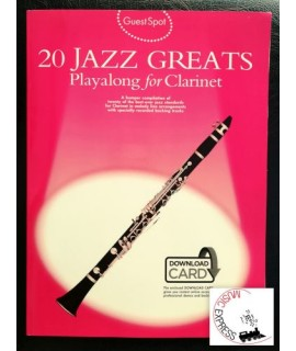 Vari - 20 Jazz Greats - Playalong for Clarinet